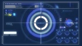 Controles futuristas del panel de control y del scifi stock de ilustración