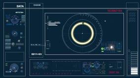 Controles futuristas del panel de control y del scifi