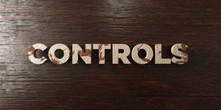 Controles - grungy houten krantekop op Esdoorn - 3D teruggegeven royalty vrij voorraadbeeld stock illustratie