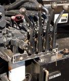 Controles hidráulicos Imagem de Stock Royalty Free
