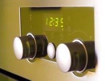 Controles modernos del horno fotografía de archivo libre de regalías