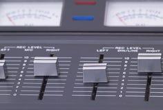Controles nivelados de gravação Fotos de Stock