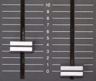 Controles nivelados de gravação Fotografia de Stock
