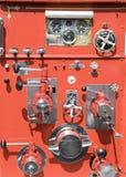 Controles velhos do carro de bombeiros fotos de stock