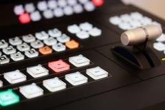Controles video del mezclador Fotografía de archivo libre de regalías
