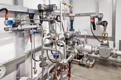 Controlesysteem van oliepijpleiding stock afbeelding