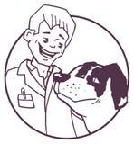 Controllare e cane Fotografia Stock Libera da Diritti