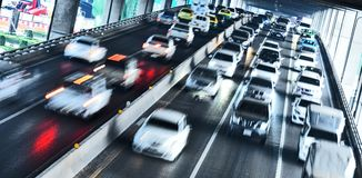 Controlled-access highway in Bangkok during rush hour.  Stock Photography
