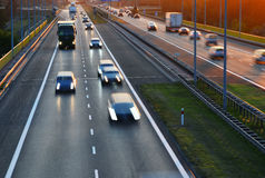 Controlled-access highway in Poznan, Poland Royalty Free Stock Photo