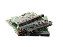 Controller cards for hard drives Royalty Free Stock Image