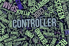 Controller, conceptual word cloud for business, information technology or IT. Controller, IT, information technology conceptual word cloud for for design Royalty Free Stock Image