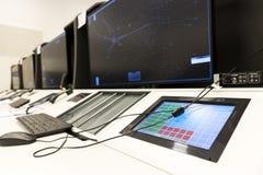Controller& x27 da autoridade de serviços do tráfico aéreo; mesa de s foto de stock royalty free