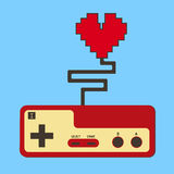 Controller pad control life heart. Royalty Free Stock Photo