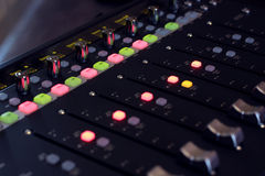 Controller. Photo of audio controller to control software stock photo