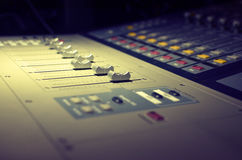Controller sound and light equipment Stock Photography