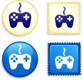 Controller Stamp and Button Royalty Free Stock Photography