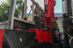 Controller of truck Mobile. Crane Royalty Free Stock Photos