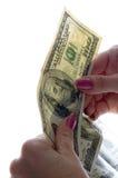 Controlli i soldi Fotografie Stock Libere da Diritti