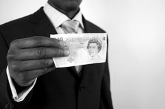 Controlli i soldi! Fotografia Stock Libera da Diritti