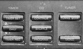 Controlli il bottone con polveroso Fotografie Stock