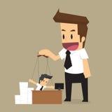 Controlli il burattino dell'uomo d'affari Corda ed autorità royalty illustrazione gratis
