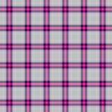 Controlli il fondo senza cuciture di struttura del tessuto scozzese del plaid di tartan del diamante - grigio, il rosa caldo, col Fotografie Stock Libere da Diritti