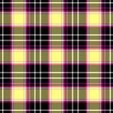 Controlli il fondo senza cuciture di struttura del tessuto scozzese del plaid di tartan del diamante - nero, il rosa caldo, color Fotografie Stock Libere da Diritti