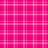 Controlli il fondo senza cuciture di struttura del tessuto scozzese del plaid di tartan del diamante - rosa caldo, colore magenta Immagine Stock Libera da Diritti