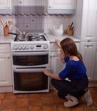 Controlli il forno Fotografia Stock
