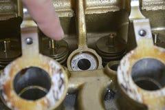 Controlli il motore fotografia stock