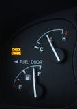 Controlli l'indicatore luminoso del motore Fotografia Stock