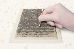 Controlli l'inquinamento di ventilazione fotografie stock libere da diritti