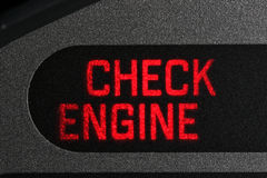 Controlli la luce d'avvertimento del motore Immagine Stock Libera da Diritti