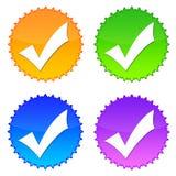 Controlli le icone Immagine Stock