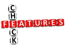 Controlli le parole incrociate di Freatures Fotografie Stock Libere da Diritti