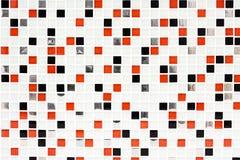 Controlli a quadretti del fondo, di rosso e del nero delle mattonelle del modello Fotografie Stock