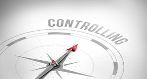 Controlling against compass Stock Photos