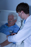 Controlling blood pressure Royalty Free Stock Photography