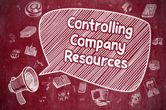 Controlling Company Resources - Business Concept. Royalty Free Stock Images
