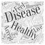 Controlling Disease in Healthy Aging word cloud concept word cloud concept vector background Royalty Free Stock Photography