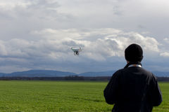 Controlling the drone Stock Images