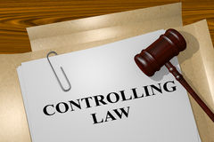 Controlling Law concept Royalty Free Stock Photography