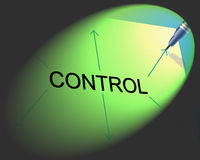 Controlling Management Shows Controller Interface And Head Stock Image
