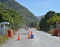 Controllo al punto Kaikoura di Ohau sul giorno di apertura della strada Fotografie Stock Libere da Diritti