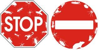 Controllo dei parassiti - segni Fotografie Stock Libere da Diritti