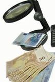 Controllo dei soldi Fotografie Stock Libere da Diritti