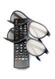 Controllo dei vetri di 3d TV Fotografia Stock Libera da Diritti