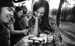 Controllo del concetto all'aperto di campeggio delle foto Immagini Stock