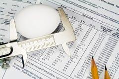 Controllo del formato dell'uovo di nido. Fotografie Stock