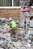 Controllo del lavoro di demolizione Fotografia Stock